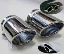 Chrome Exhaust Tips with perforated insert for VW EOS 2006-2011