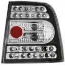 B5 Black Housing LED 3Lumix Tail Lights for VW Passat 98-01