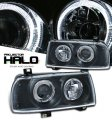 A3 Black V2 Projector Halo Headlights for VW Jetta 1993-1998