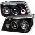A4 Black Halo LED Projector Headlights for 99-04 VW Jetta