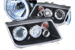 A4 Black Halo ZXXZ LED Projector Headlights for 99-04 VW Jetta