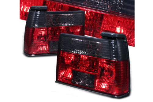 A2 Red Smoke Crystal Tail Lights for 1985-1992 VW Jetta