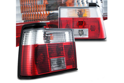 A2 Red Clear Crystal Tail Lights for 1985-1992 VW Jetta
