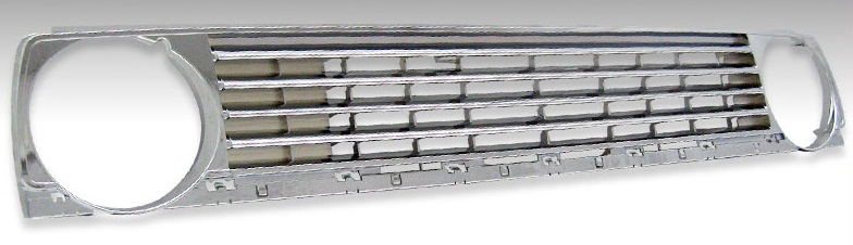 A2 Dual Chrome Round Badge-Less Grille for  VW Golf 1985-1992