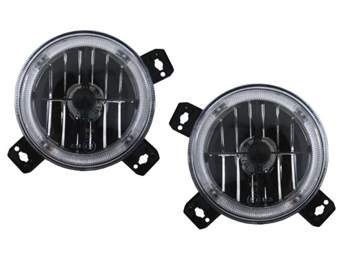 A2 Inner Cross Hair Angel Eye Headlights for 85-92 VW Golf