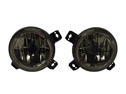 A2 Smoked Inner Cross Hair Angel Eye Headlights for 85-92 Jetta
